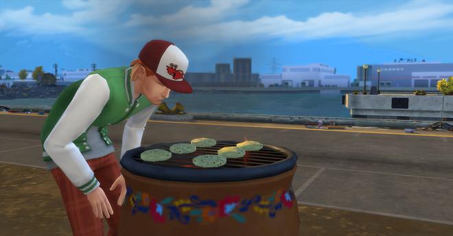 Case is grilling veggie burgers again